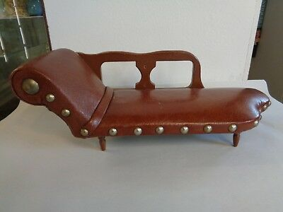 Apprentice Piece Miniature Leatherwork Chaise Longue - Very Rare
