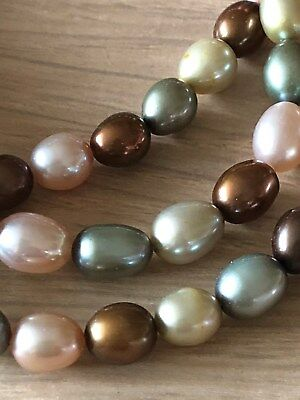 Honora Pearls set of 3 bracelets in forest shades, excellent condition
