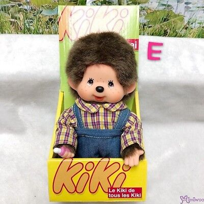 KiKi Monchhichi S Size Plush Overall Fashion Boy (with Standing Box) ~~ RARE ~~