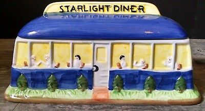 Vintage Corning Collectible STARLIGHT DINER Cookie Jar Handpainted