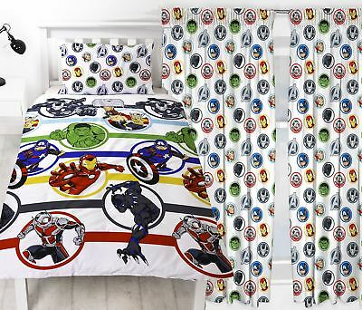 Avengers Strong Single Duvet & Matching Readymade Curtains Bedding Set