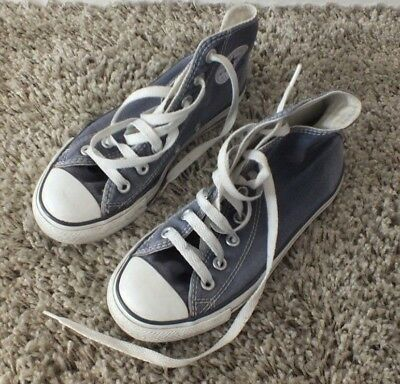 Converse high tops trainers UK 3 US 5 EU 35 blue ladies unisex canvas shoes