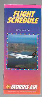 ***1994 Morris Air (now part of Southwest) System Timetable - Jan 17, 1994***