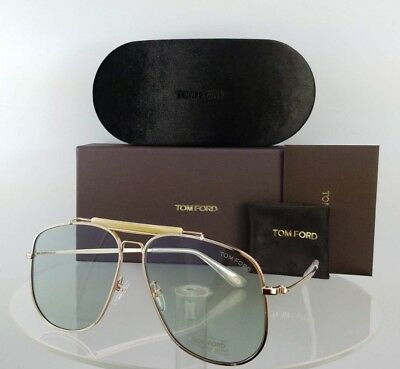 Brand New Authentic Tom Ford Sunglasses FT TF 557 28V Connor-02 Gold Frame