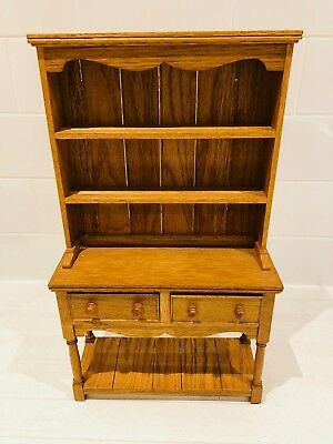 Mini Welsh Dresser In Oak Can Hang On Wall Thimble Display Etc.