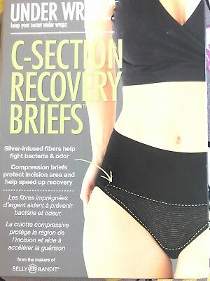 Under Wrapz Womens Maternity C-Section Recovery Brief Panties Underwear Nude L