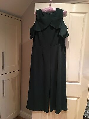 Ladies Green Jumpsuit Warehouse Size 16