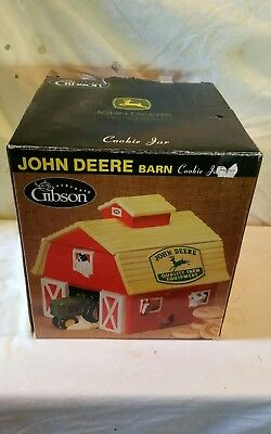 John Deere Cookie Jar Tractor By Gibson Barn Collectible New in Box