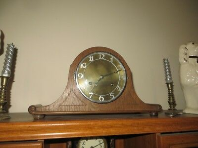 14 day striking mantel clock with French movement, platform escapement.