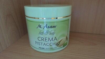 M Asam bath&body Crema Pistacchio Peeling Body Exfoliant 600 ml NEU/OVP