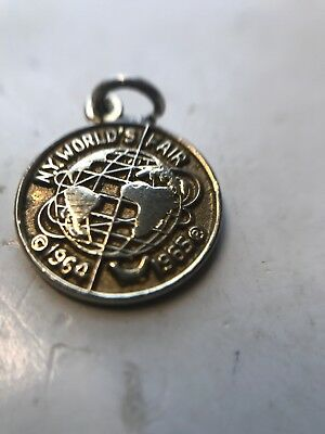 Vintage 1965 New York Workds Fair Charm Sterling  As Is