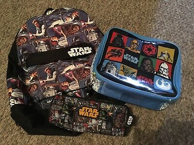 Star Wars Backpack, Pencil Case & Lunch Box