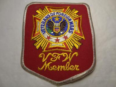Rare Vintage VFW Veterans of Foreign Wars Member Embroidered Emblem Patch