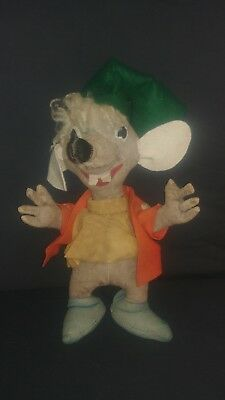 """Extremely Rare 1950s Walt Disney Gund Co. """"JAQ"""" Mouse Doll From Cinderella."""