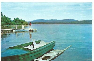 Pittsburg New Hampshire NH Second Connecticut Lake Postcard Chrome Rudy's