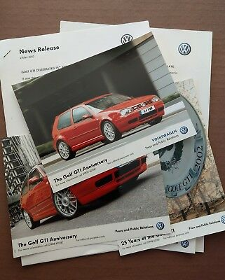 Volkswagen Golf 25th AnniversaryOfficial Press pack Inc photos and information