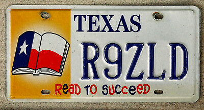 """Texas """"Read to Succeed"""" License Plate"""
