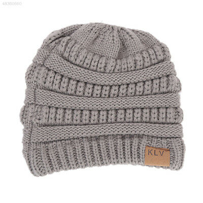 BF7A Fashion Outdoor Beauty Sports Ponytail Hat High Bun Beanies Knit Cap