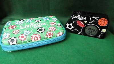 Smiggle Times Up Fun Projection Alarm Clock & Pencil case