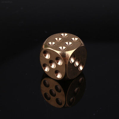 85FA Brass Dice Solid Heavy Metal Alloy Childen Shake KTV Party Bar Supplies