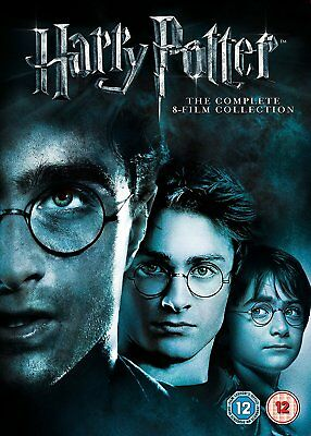HARRY POTTER COMPLETE 1-8 DVD BOXSET MOVIES COLLECTION Region 2 INSTOCK UK NEW