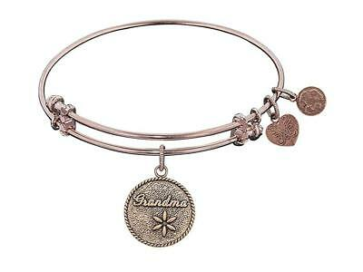 Angelica Collection Antique Stipple Finish Brass grandma Expandable Bangle