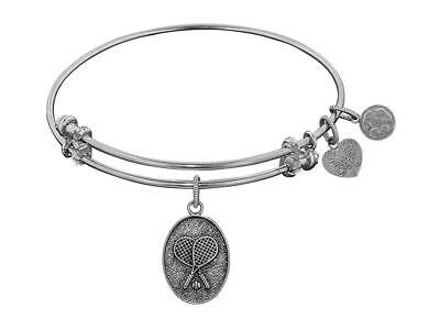Angelica Collection Antique Stipple Finish Brass tennis Expandable Bangle
