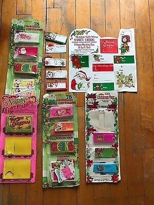 Assorted Christmas Gift Tags and Enclosures, New Old Stock, 1960's designs