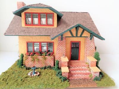 Miniature Arts & Crafts Mission Style Dollhouse Diorama Ferne Simpson WIRED Elec