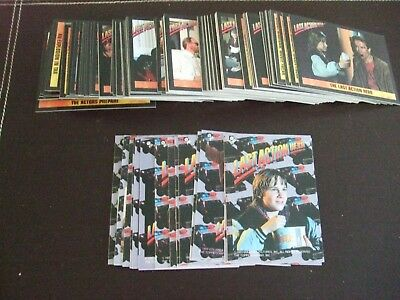 Duplicated Selection of Last Action Hero Trading Cards and Stickers.