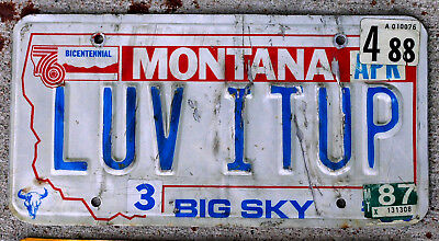 """Montana VANITY Looks Like """"LUV IT UP"""" Went too Far on This License Plate in 1988"""