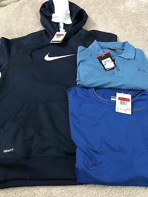 Mens Clothing Lot - Under Armour, Nike Fit Dry. Large Polo, Sweatshirt