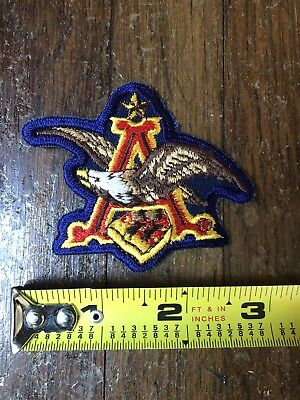 Anheuser-Busch Eagle Embroidered Logo Beer Patch Budweiser Bud BLUE VERY RARE