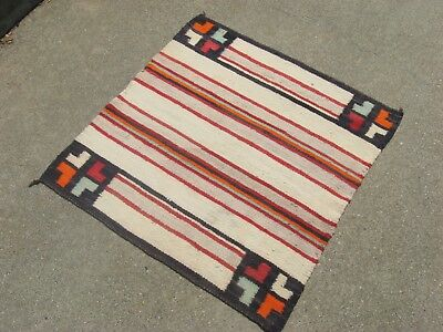 c1935 CLASSIC BANDED NAVAJO SINGLE SADDLE BLANKET-Native American Indian Weaving