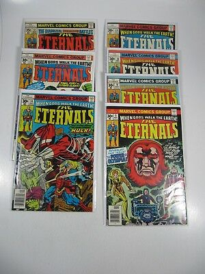 The Eternals 7 Issue lot  #5,9,11,13,14,15,17 (Marvel Comics 1976 1977) F/VF