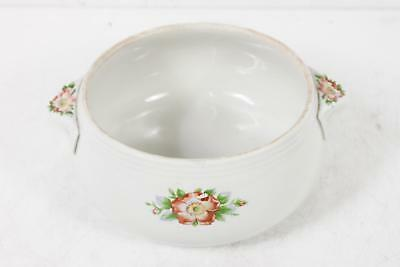 "10"" Vintage Hall Superior Quality Kitchenware Eared Pink Rose Serving Bowl"