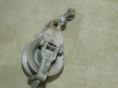 Sherman Reilley Snatch Block Roller Sheave Pulley Lineman Wire Cable Xs-100-B