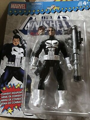 "Marvel Legends Vintage Series The Punisher Action Figure 6"" Retro Hasbro NEW"