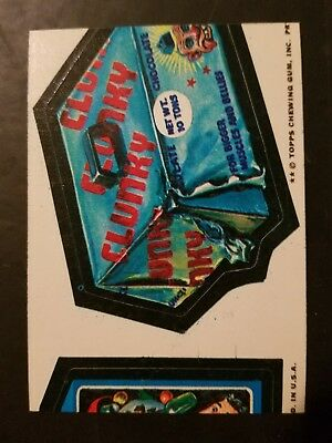 Wacky Packages-1974-Miscut Clunky, Heavy Trash Bags 10Th Series-Topps-Rare