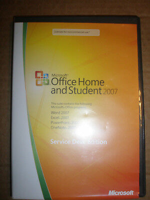 Microsoft Office 2007 Home and Student (with Product Key) Service Desk Edition