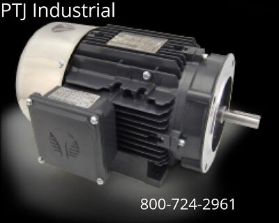 2 HP Electric Motor 56C Frame 3 Phase 3600 RPM TEFC Inverter Rated 3 yr warranty