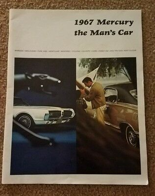 Vtg 1967 Mercury Full Line Car Dealership Sales Brochure The Man's Car
