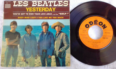 Les Beatles-French 45 Ep-Odeon Label-Very Good-