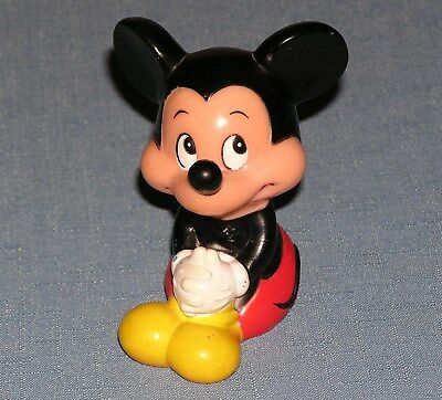 1960s Mickey Mouse squeeze toy Walt Disney Productions soft rubber vintage WDP
