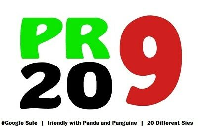 20 Pr9 High Quality SEO Authority Backlinks - Fire Your Google Ranking