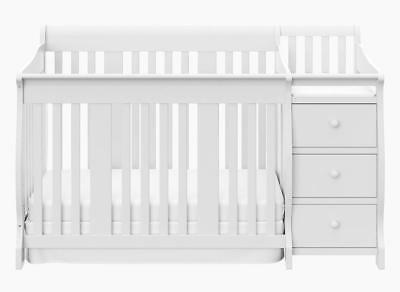 Storkcraft Portofino 4 in 1 Fixed Side Convertible Crib Changer, White,...