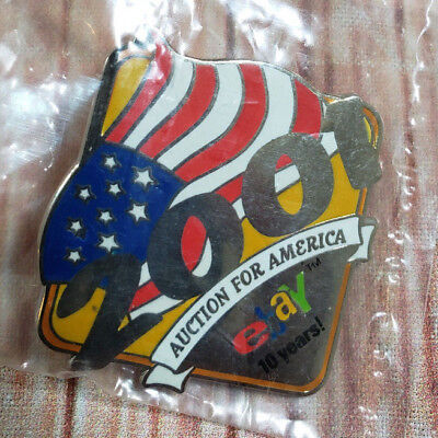 2001 eBay Live Auction for America 10 Years Collectible Pin NEW