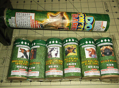 Canister Shell DOG WON'T STOP BARKING Firework Labels