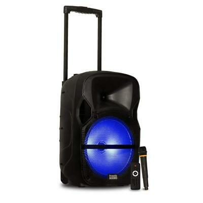 """Acoustic Audio by Goldwood Cabinet, Battery Powered 12"""" Bluetooth Speaker..."""