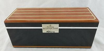 Veuve Clicquot La Grand Dame by RIVA Wood Box Carrier Yacht Deck - ÜBER RARE ! 3